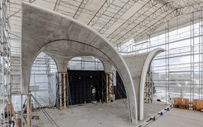 Self-Sustaining Curved Roof: ETH zurich's block Research Group Completes Complex, Doubly Curved Concrete Roof