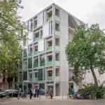 Prefabricated Beam : Wohnregal is a Prefabricated Concrete Live-work Apartment Block in Berlin