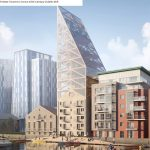 Waterfront Tower: Sustainable Timber Tower to Crown 19th Century Dublin Mill