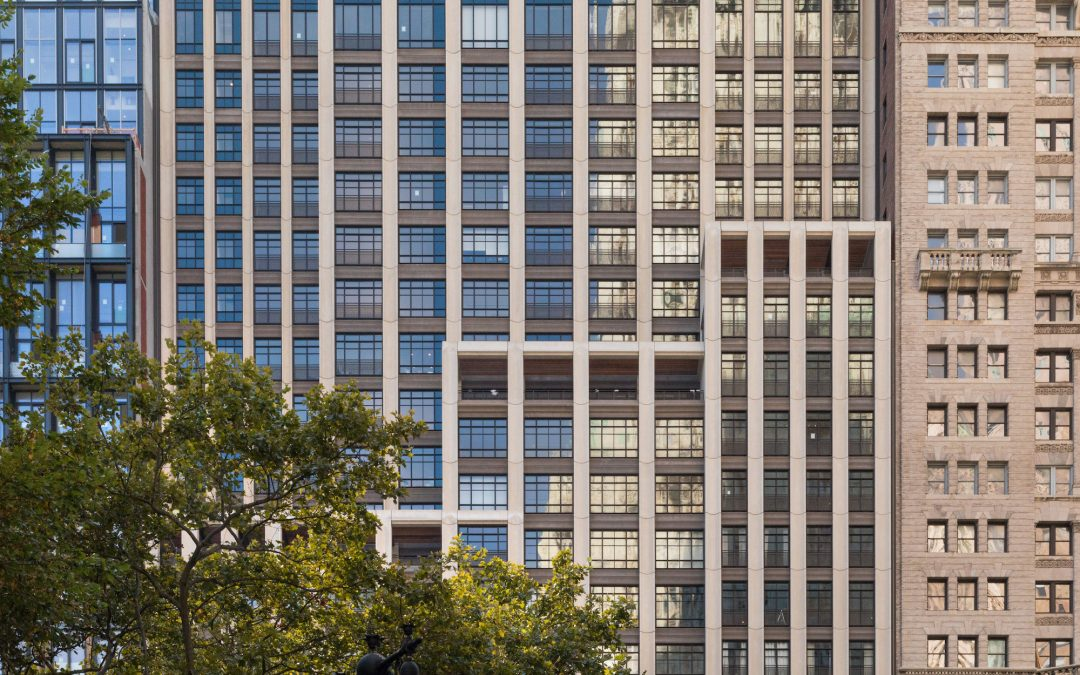 COOKFOX's 25 Park Row joins Lower Manhattan with fluted Concrete and Dramatic Massing
