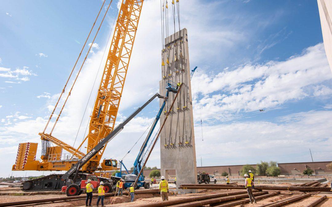 Nation's Heaviest Concrete Tilt Panels Erected at Northrop Grumman in Gilbert