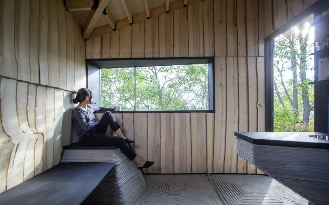Shedding Light on 3D- printed, Upcycled Ashen Cabin