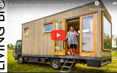 Incredible Tiny House Truck: Solo Female Traveller's Off-Grid Tiny House