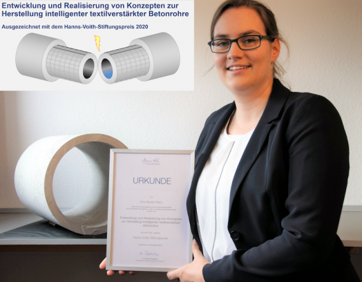 Researcher Awarded for Work on Intelligent Reinforced Concrete Pipes