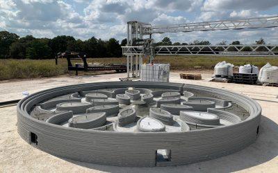 چاپ سه بعدی سکوی بتنی پرتاب  موشک برای ناسا