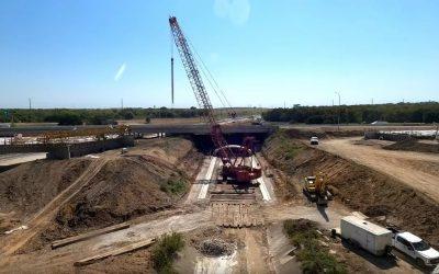 استفاده از پل های پیش ساخته بتنی برای هدایت روان آب ها در تگزاس