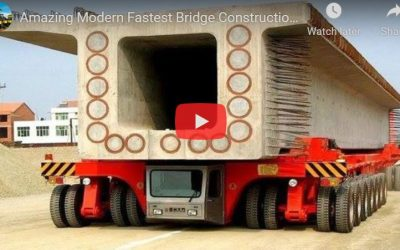Amazing Modern Fastest Bridge Construction Method