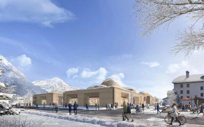 Energy Efficient Innovation Center Inspired by Alpine Landscape