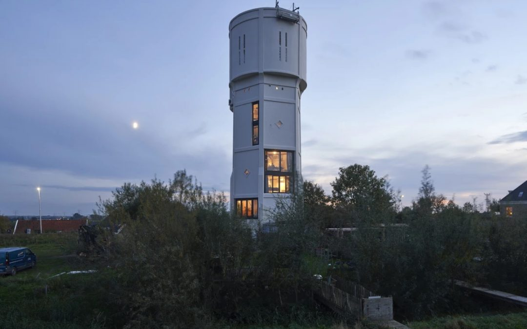 Childhood Dream Realized as Disused Water Tower Becomes Family Home