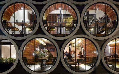 Concrete Pipes Transformed Into Architectural Elements and Living Spaces