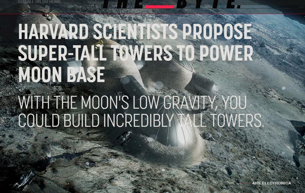 ساخت برج های عظیم بتنی در کره ماه