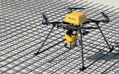 سرعت بخشیدن به پروژه های ساخت و ساز با پهپادهای آرماتوربند