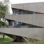 Architects Design Asymmetrical Concrete House
