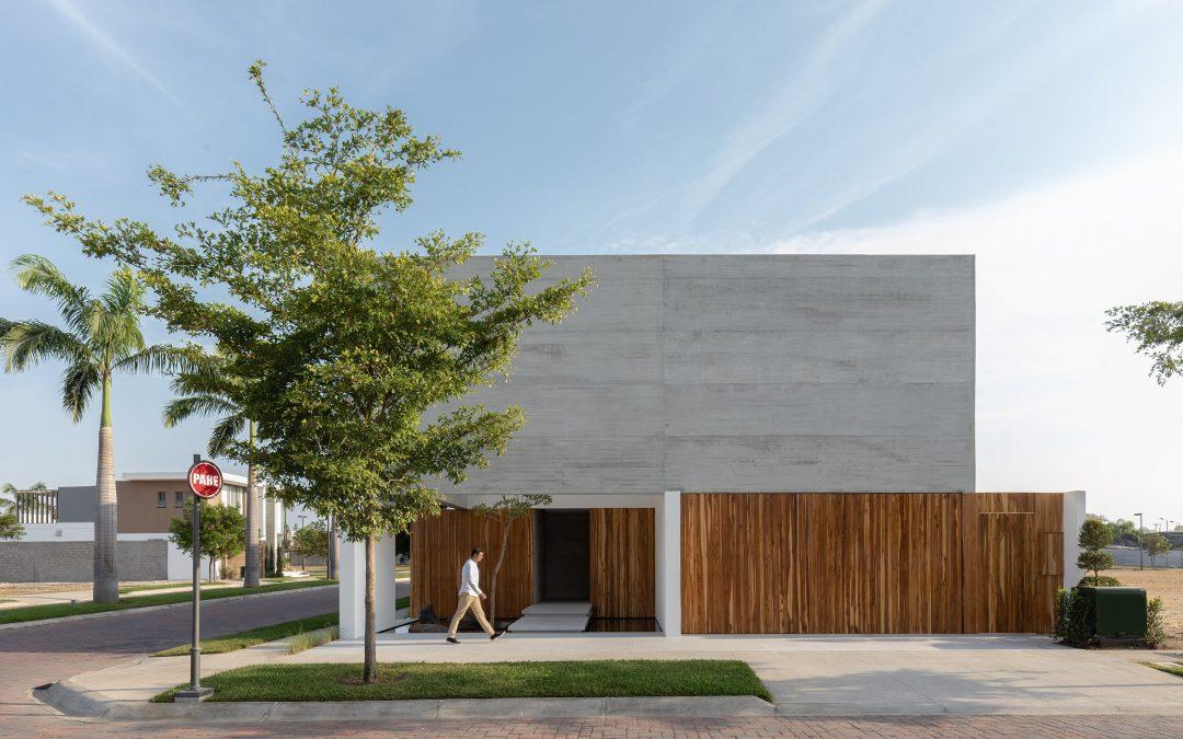 Concrete Home in Ecuador Features Double Facade