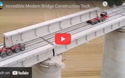 VIDEO – Bridge Construction Technology – Biggest Crane Heavy Equipment Machines Working