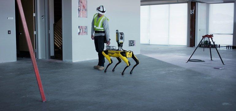 Performances of Four-legged Spot Robot in Construction sites