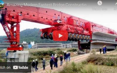 Amazing Modern Fastest Bridge Construction Technology