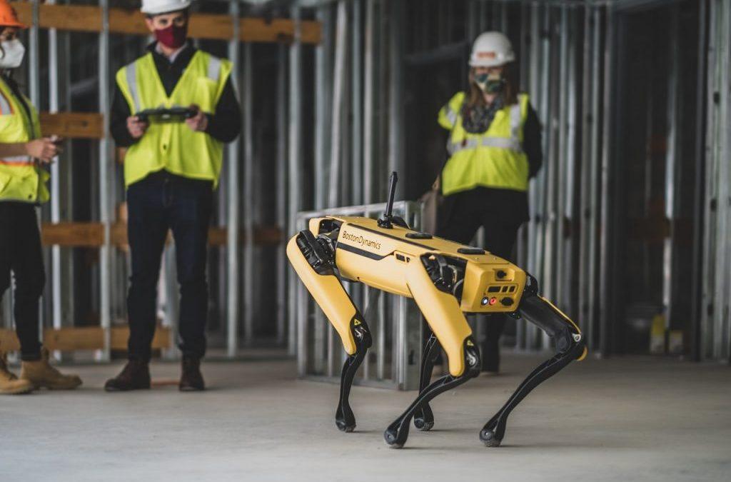 Robot Dog Monitoring Construction At Va. Tech