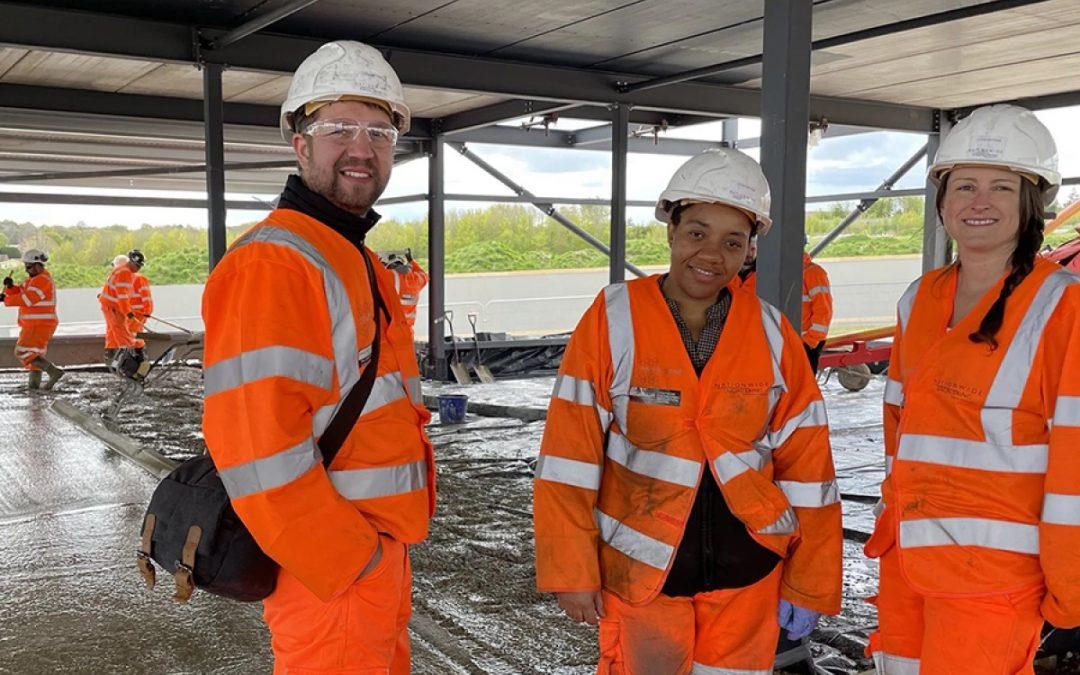 Placing of Graphene-enhanced Concrete Slab in England