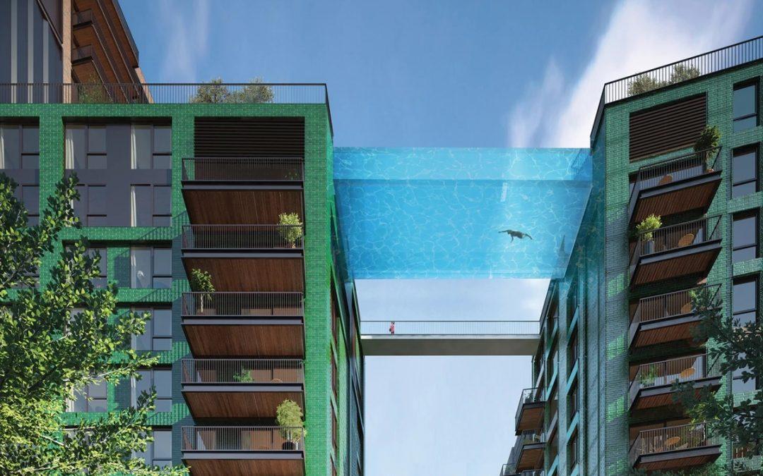Swimming Across 100-ft-high Sky Pool