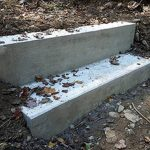 Pre-mixed Bagged Concrete Used for Bridge in Forest