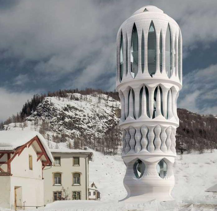 ETH Zurich to 3D print concrete Tower in Switzerland