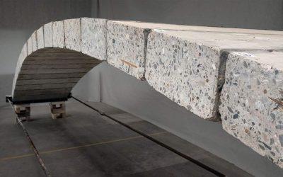 Building a Concrete Footbridge without the Need to Placing Concrete!